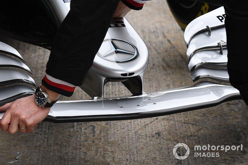 Mercedes-AMG F1 W10 detalle del alerón delantero