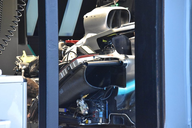 Mercedes AMG F1 W10 engine detail