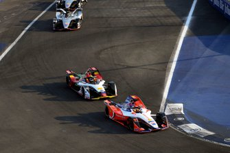 Pascal Wehrlein, Mahindra Racing, M5 Electro Lucas Di Grassi, Audi Sport ABT Schaeffler, Audi e-tron FE05, Oliver Rowland, Nissan e.Dams, Nissan IMO1