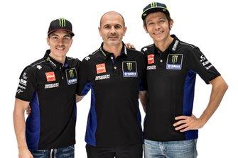 Valentino Rossi, Yamaha Factory Racing, Maverick Vinales, Yamaha Factory Racing, Maio Meregalli, Yamaha Factory Racing team manager