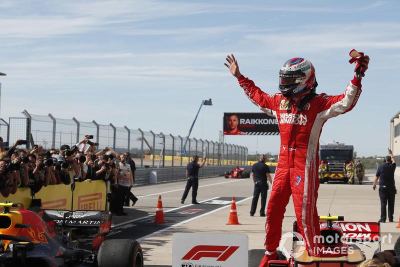 Il vincitore della gara Kimi Raikkonen, Ferrari SF71H