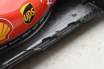 Ferrari SF71H floor detail