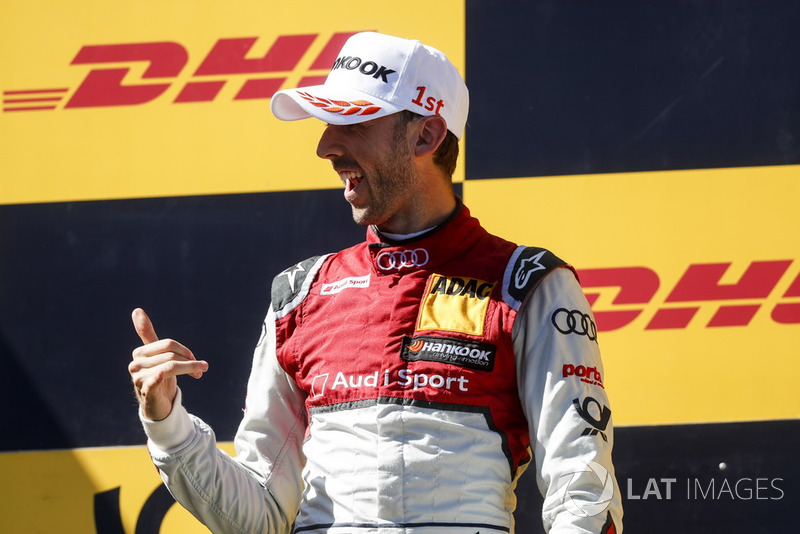 1. Podium: Race winner René Rast, Audi Sport Team Rosberg