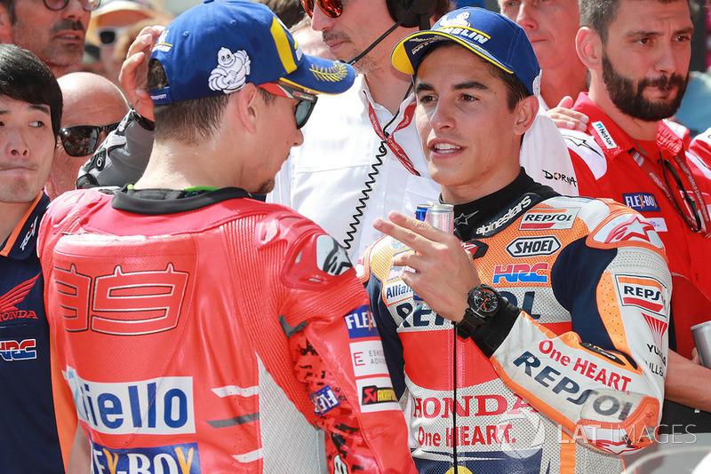 Володар поул-позиції Марк Маркес, Repsol Honda Team, третє місце Хорхе Лоренсо, Ducati Team