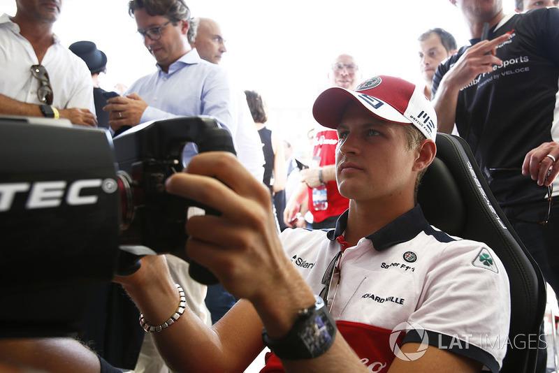 Marcus Ericsson, Sauber al simulatore