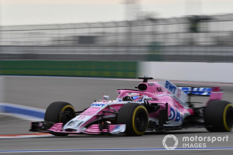 8: Серхио Перес, Racing Point Force India VJM11, 1'33.563