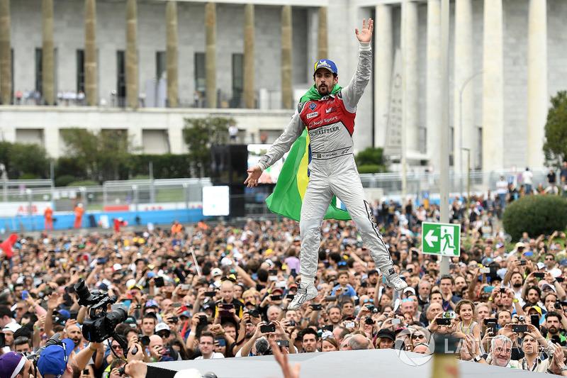 Lucas di Grassi, Audi Sport ABT Schaeffler, segundo lugar en Rome ePrix