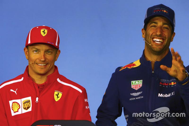 Кімі Райкконен, Ferrari, Даніель Ріккардо, Red Bull Racing