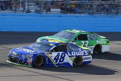 Jimmie Johnson, Hendrick Motorsports Chevrolet, Jeffrey Earnhardt, Circle Sport - The Motorsports Group Chevrolet