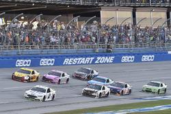 Brad Keselowski, Team Penske Ford, Joey Logano, Team Penske Ford, Ryan Newman, Richard Childress Racing Chevrolet, Trevor Bayne, Roush Fenway Racing Ford