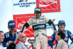 Podio: il vincitore della gara Nelson Piquet, Brabham, il secondo classificato Keke Rosberg, Williams, il terzo classificato Alain Prost, Renault. Nelson Piquet e Keke Rosberg furono poi squalificati per i serbatoi dell'acqua illegali