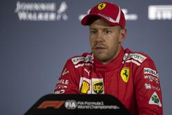 Sebastian Vettel, Ferrari in de persconferentie