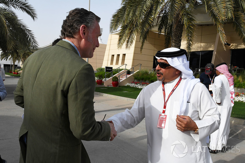 Sean Bratches, Formula One Managing Director, Commercial Operations and Crown Prince Shaikh Salman bin Hamad Al Khalifa (BRN)