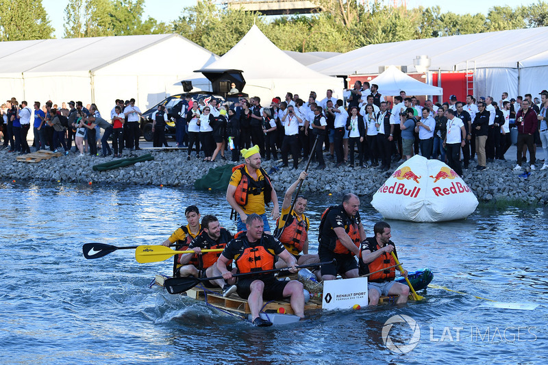 Red Bull Racing at the raft race