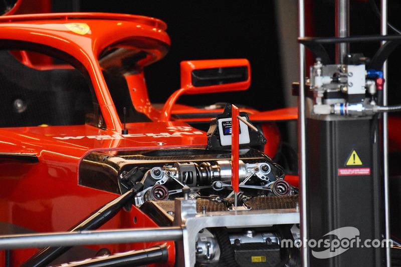 Detalhe da Ferrari SF71H