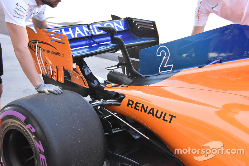 L'aileron arrière de la McLaren MCL3