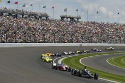 Ed Carpenter, Ed Carpenter Racing Chevrolet, Tony Kanaan, A.J. Foyt Enterprises Chevrolet