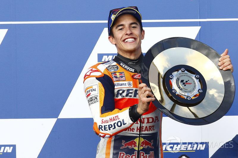 Podio ganador Marc Marquez, Repsol Honda Team