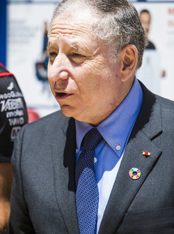 Jean Todt at the FIA e-Village stand, with Jose Maria Lopez, Dragon Racing. & Lucas di Grassi, Audi Sport ABT Schaeffler