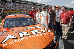 Daniel Suarez, Joe Gibbs Racing, Toyota Camry ARRIS Guests