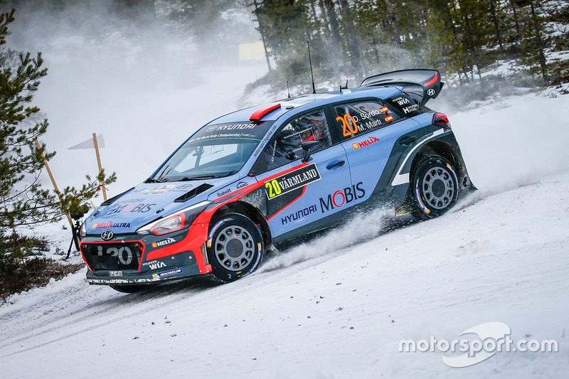 daniel sordo marc marti hyundai i20 wrc hyundai motorsport at rally sweden. Black Bedroom Furniture Sets. Home Design Ideas