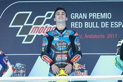 Podium: race winner Aron Canet, Estrella Galicia 0,0