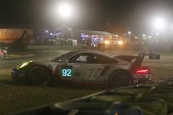 #92 Porsche GT Team Porsche 911 RSR: Michael Christensen, Kevin Estre, Dirk Werner crash