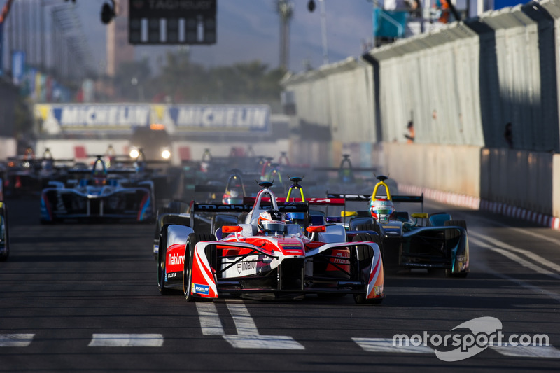 Start action, Felix Rosenqvist, Mahindra Racing
