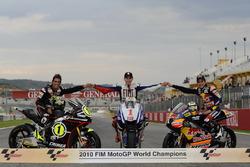 Toni Elias, Jorge Lorenzo, Yamaha, Marc Marquez 2010 wereldkampioenen