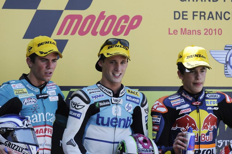 Podium : 1er Pol Espargaró, 2e Nico Terol, 3e Marc Márquez
