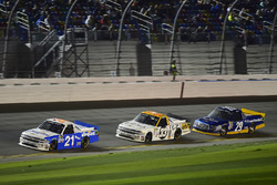 Johnny Sauter, GMS Racing, Chevrolet; Kaz Grala, GMS Racing, Chevrolet; Chase Briscoe, Brad Keselowski Racing, Ford