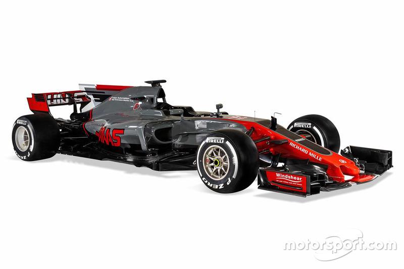 Haas F1 Team VF-17 schuin van voren