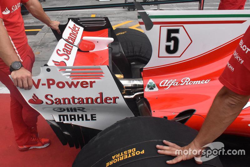 Ferrari SF70H rear wing detail