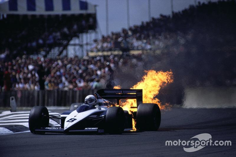 1987 - Le moteur BMW d'Andrea de Cesaris rend l'âme