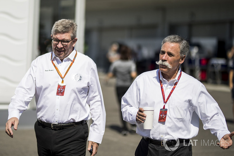 Ross Brawn, Direktur Motorsport Formula One, Chase Carey, CEO Formula One Group