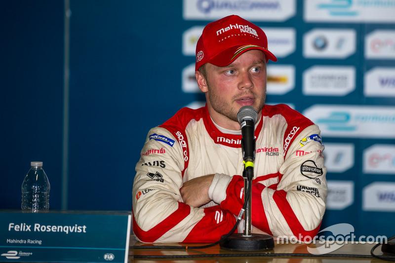 Conferencia de prensa: segundo lugar Felix Rosenqvist, Mahindra Racing