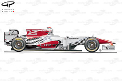 HRT F111 side view, Brazilian GP