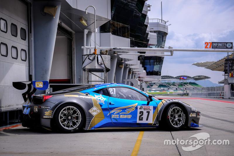 #27 Nexus Infinity Ferrari 458 GT3:Adrian Henry D'Silva, Dominic Ang Ding Xiong, Garnet Patterson