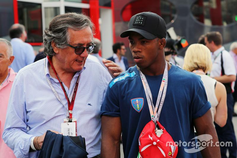 (Da sx a dx): Giancarlo Minardi e Frank Chamizo Marquez, medaglia di bronzo nel Wrestling a Rio 2016