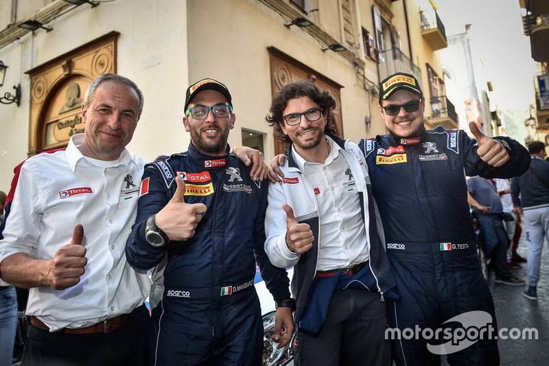 (da sx a dx) Fabrizio Fabbri, Giuseppe Testa, Eugenio Franzetti e  Daniele Mangiarott