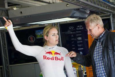 Lindsey Vonn, test Formula Renault 3.5