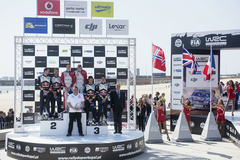 Podio: gandores Kris Meeke, Paul Nagle, Citroën DS3 WRC, Citroën World Rally Team, segundo lugar And