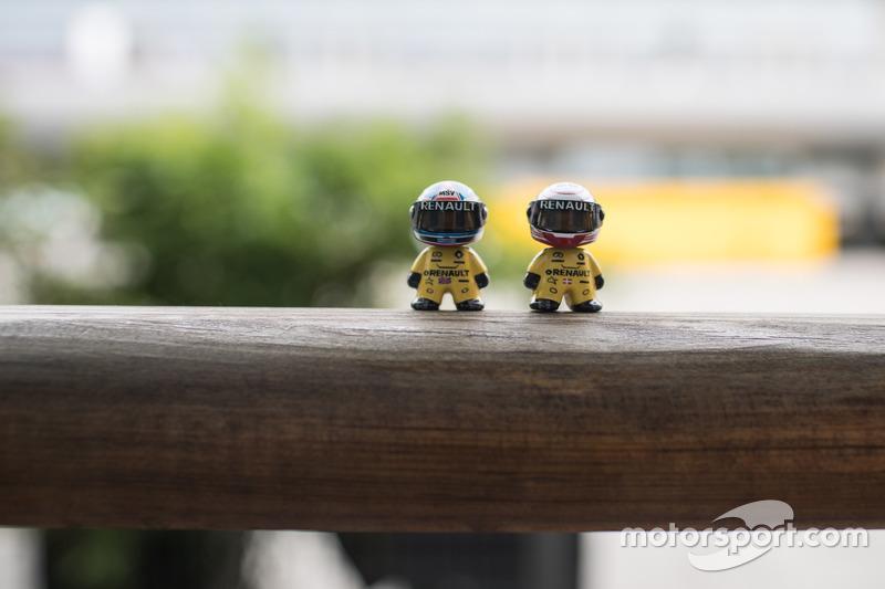 pequeño conductor de Renault F1