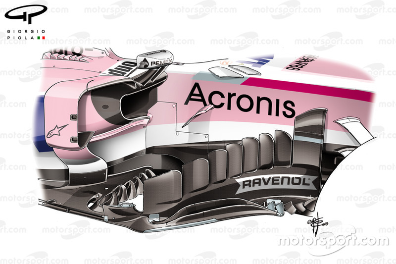 Force India new bargeboard