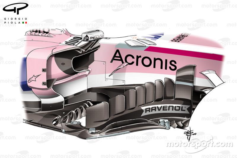 Le déflecteur de la Force India VJM11