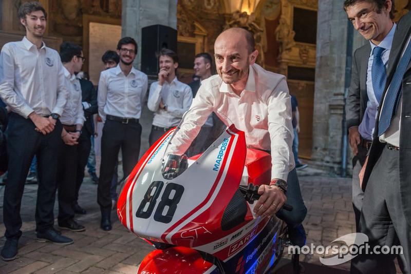 Claudio Domenicali alla presentazione UniBo Motorsport