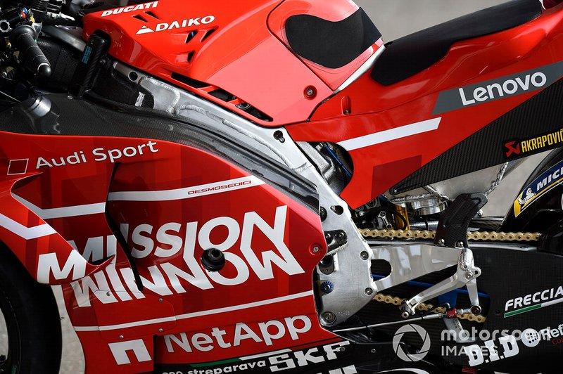 Detalle del chasis de Ducati