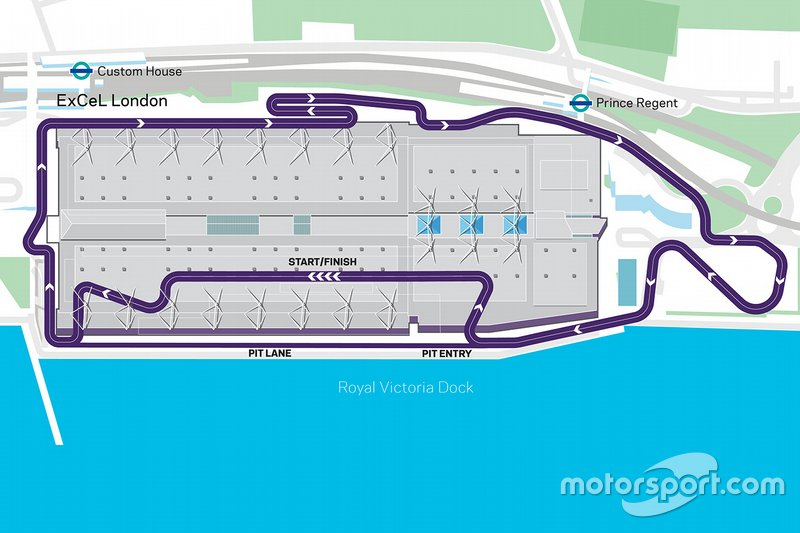 Map sirkuit E-Prix London