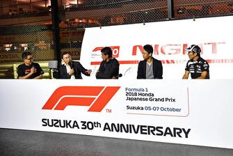 Satoru Nakajima, Aguri Suzuki, Kazuki Nakajimi et Takuma Sato
