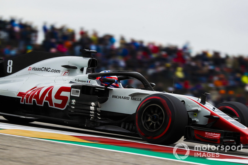 Abandon : Romain Grosjean (Haas F1)